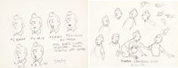 The Adventures of Tintin Model Sheets Original Art Group of 2 (Belvision/Larry Harmon Pictures, 1959).... (Total: 2 Orig...