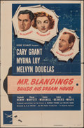 """Movie Posters:Comedy, Mr. Blandings Builds His Dream House (RKO, 1948). Folded, Fine. Trimmed One Sheet (26.75"""" X 40.5""""). Comedy.. ..."""