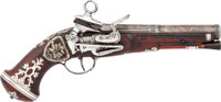 An Early Silver Mounted Spanish Miquelet Belt Pistol, Circa 1775