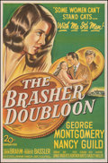 """Movie Posters:Crime, The Brasher Doubloon (20th Century Fox, 1946). Fine/Very Fine on Linen. One Sheet (27"""" X 41""""). Crime.. ..."""