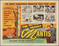"""Movie Posters:Science Fiction, The Deadly Mantis (Universal International, 1957). Very Fine+ on Linen. Half Sheet (22"""" X 28""""). Science Fiction.. ..."""