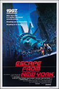 "Movie Posters:Science Fiction, Escape from New York (Avco Embassy, 1981). Folded, Very Fine+. Australian One Sheet (27"" X 40""). Barry Jackson Artwork. Scie..."