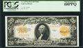 Fr. 1187 $20 1922 Mule Gold Certificate PCGS Superb Gem New 68PPQ