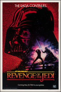 "Revenge of the Jedi (20th Century Fox, 1982). Rolled, Fine+. One Sheet (27"" X 41"") Dated Teaser Style, Drew St..."