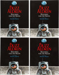 Explorers:Space Exploration, Buzz Aldrin Signed Books (Thirty Copies): Reaching For The Moon, Originally from ...