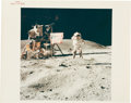 """Explorers:Space Exploration, John Young's Apollo 16 """"Leaping Salute"""" Original Iconic NASA """"Red Number"""" Color Photo. ..."""