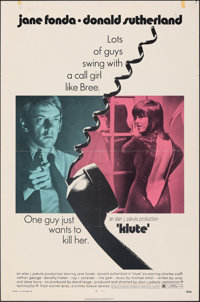 """Klute & Other Lot (Warner Bros., 1971). Folded, Overall: Very Fine. One Sheets (5) (27"""" X 41""""). Thriller..."""