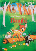 """Movie Posters:Animation, Bambi & Other Lot (Sonis, R-1990s). Folded, Very Fine-. French Commercial Grande (43"""" X 61.75"""") & One Sheet (27"""" X 40""""). Ani... (Total: 2 Items)"""