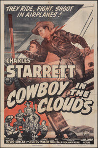 """Cowboy in the Clouds & Other Lot (Columbia, 1943). Folded, Overall: Fine+. One Sheets (2) (27"""" X 41""""), Hal..."""