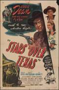 """Movie Posters:Western, Stars Over Texas & Other Lot (PRC, 1946). Folded, Overall: Very Good+. One Sheet (27"""" X 41"""") & Half Sheet (22"""" X 28""""). Weste... (Total: 2 Items)"""