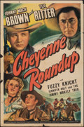 """Movie Posters:Western, Cheyenne Roundup & Other Lot (Universal, 1943). Folded, Fine. One Sheet (27"""" X 41"""") & Half Sheet (22"""" X 28""""). Western.. ... (Total: 2 Items)"""