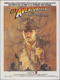"""Movie Posters:Adventure, Raiders of the Lost Ark (Paramount, 1981). Folded, Very Fine-. French Grande (47.25"""" X 63.25"""") Richard Amsel Artwork. Advent..."""