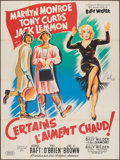 """Movie Posters:Comedy, Some Like It Hot (United Artists, 1959). Folded, Fine/Very Fine- French Grande (47"""" X 63""""). Comedy.. ..."""
