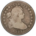 1795 $1 Draped Bust, Off Center AG3 PCGS. PCGS Population: 3 in 3, 322 finer (4/20). NGC Census: 0 in 3, 0 finer (4/20)...