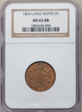 1864 2C Large Motto MS65 Red and Brown NGC. NGC Census: (584/100). PCGS Population: (442/40). CDN: $400 Whsle. Bid for N...