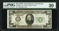Fr. 2056-A* $20 1934B Federal Reserve Note. PMG Very Fine 30