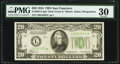 Fr. 2054-L* $20 1934 Dark Green Seal Federal Reserve Note. PMG Very Fine 30