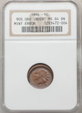 1894 1C Indian Cent -- 90% Obverse Indent -- MS64 Brown NGC
