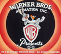 Animation Art:Production Cel, (Blooper) Bunny Bugs Bunny Production Opening Title Cel (Warner Brothers, 1997)....