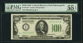 Fr. 2152-I $100 1934 Dark Green Seal Federal Reserve Note. PMG About Uncirculated 55 EPQ