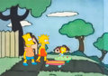 Animation Art:Production Cel, The Simpsons (The Tracey Ullman Show) Bart, Lisa and Maggie Production Cel Setup (Fox, 1988). ...