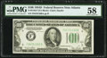 Small Size:Federal Reserve Notes, Fr. 2156-F $100 1934D Federal Reserve Note. PMG Choice About Unc 58.. ...