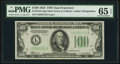 Fr. 2152-L $100 1934 Dark Green Seal Federal Reserve Note. PMG Gem Uncirculated 65 EPQ