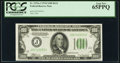 Fr. 2152-J $100 1934 Dark Green Seal Federal Reserve Note. PCGS Gem New 65PPQ