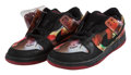 Collectible, Nike X Pushead. Dunk SB Low Pushead 1, 2005. Pair of sneakers. Size 8.5. Produced by Nike, USA. ...