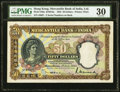 World Currency, Hong Kong Mercantile Bank of India, Limited 50 Dollars 1.7.1935 Pick 240a KNB16a PMG Very Fine 30.. ...