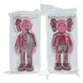 Collectible, KAWS (b. 1974). Companion (Blush) (two works), 2016. Painted cast vinyl. 10-3/4 x 5 x 3-1/2 inches (27.3 x 12.7 x 8.9 cm... (Total: 2 Items)