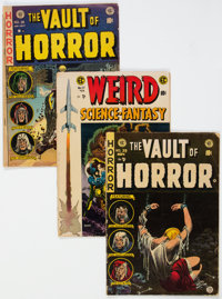 Vault of Horror/Weird Science-Fantasy Group of 7 (EC, 1950s) Condition: Average GD+.... (Total: 7 Comic Books)