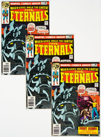The Eternals #1 Group of 4 (Marvel, 1976) Condition: Average FN+.... (Total: 4 Comic Books)