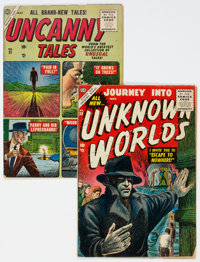 Journey Into Unknown Worlds #39/Uncanny Tales #31 Group (Atlas, 1955).... (Total: 2 Comic Books)