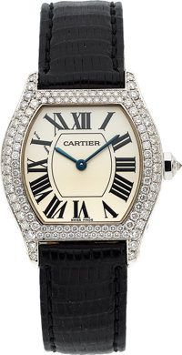 Cartier, Tortue, Lady's White Gold And Diamond Wristwatch, Ref. 2644, circa 2000