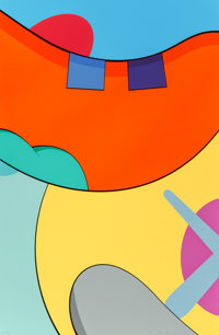 KAWS (b. 1974) Untitled, from NO REPLY, 2015 Screenprint in colors on wove paper 34-7/