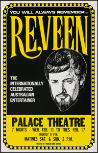 """Reveen the Magician Poster Lot (c. 1970s). Rolled, Very Fine. Posters (2) (14"""" X 22"""" & 15"""" X23"""")..."""
