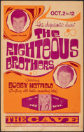 """Movie Posters:Rock and Roll, The Righteous Brothers (1970). Fine/Very Fine. Canadian Concert Window Card (14"""" X 22""""). Rock and Roll.. ..."""