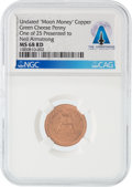 "Explorers:Space Exploration, Apollo 11: ""Green Cheese Penny"" Moon Money Copper Token MS68RD NGC, One of 25 Presented to Neil Armstrong, Directly From The A..."
