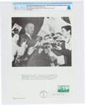 Explorers:Space Exploration, Philatelia: Neil Armstrong Signs Autographs at the New York World's Fair First Day Canceled Souvenir Card Directly From The A...