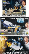 "Explorers:Space Exploration, Buzz Aldrin Revell ""Rocket Hero"" Apollo 11 Models (Three Different), New in Boxes, Originally from His Personal Collection. ..."