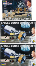 "Explorers:Space Exploration, Buzz Aldrin Revell ""Rocket Hero"" Apollo 11 Models (Two Different, Three Total), New in Boxes, Originally from His Personal Co..."
