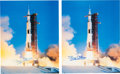 Explorers:Space Exploration, Buzz Aldrin Signed Large Apollo 11 Launch Color Photos (Two) Originally from His Personal Collection.... (Total: 2 )