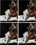 Explorers:Space Exploration, Buzz Aldrin Signed Large Apollo 11 Lunar Surface Color Photos (Four) Originally from His Personal Collection.... (Total: 4 )