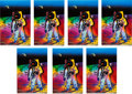 """Explorers:Space Exploration, Buzz Aldrin and Peter Max Signed Peter Max """"Apollo 11 - Walking on the Moon 1969/1999"""" Large Prints (Seven) Originally from A..."""