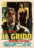 "Movie Posters:Foreign, Il Grido (CEI Incom, 1957). Fine/Very Fine on Linen. Italian 4 - Fogli (55.25"" X 77.75""). Sandro Symeoni Artwork. . ..."