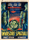 Movie Posters:Science Fiction, Invaders from Mars (Rank, 1958). Very Fine- on Linen.