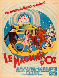 """The Wizard of Oz (MGM, 1946). Very Fine- on Linen. First Post-War Release French Grande (47.5"""" X 62.25"""") Boris..."""