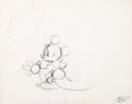 """Animation Art:Production Drawing, Fantasia """"Sorcerer's Apprentice"""" Mickey Mouse Rough Animation Drawing (Walt Disney, 1940)...."""