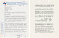 Walt Disney Signed Letter to Olympic Winter Games Organizing Committee (1960).... (Total: 2 Items)
